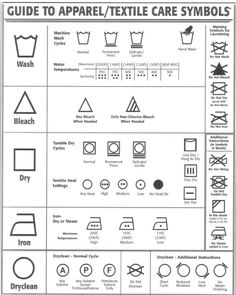 Clothing Care Label Template Lovely Fabric Care Symbols Ever Wonder What they Mean I Had to Address Label Template, Label Templates, Business Plan Template Free, Fibre And Fabric, Mini Craft, Craft Business, Printing On Fabric, Symbols, Laundry