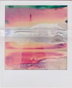 Another William Miller ruined Polaroid. Stunning colours and I love how a random accident and a set chemical process can yield an artwork that some artists would give their right eye to deliberately produce. Experimental Photography, Abstract Photography, Film Photography, Levitation Photography, Exposure Photography, Contemporary Photography, Winter Photography, Beach Photography, Wedding Photography