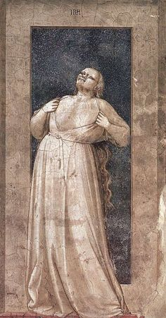 Wrath, The Seven Vices, 1306, Cappella Scrovegni, Padua, Giotto di Bondone (1267-1337)