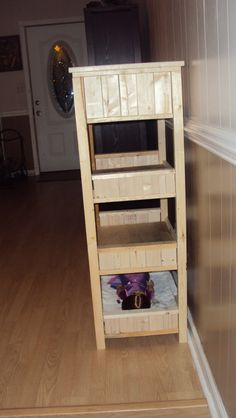 My first build!! A farm house style four tier AG Doll bunk bed, modifed from Ana-White.com     March 2011