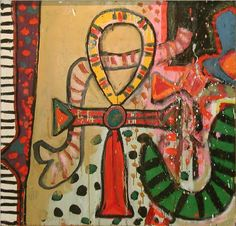 Alan Davie Ankh for the Serpents Oil on Panel 64 x cms x ins) 1967 Alan Davies, Chagall Paintings, Tate Gallery, Little Dragon, Great Paintings, Naive Art, Drawings, 1960s, Artist