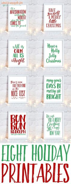 Adorable Holiday Printables!