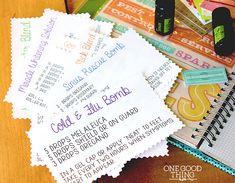 Essential oils printable recipe cards. (smash journal)