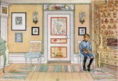 Carl Larsson, leven en werken: Komedie in Huize Larsson