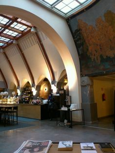 Cafe in Helsinki. In front of Esplanade park. #Helsinki #Finland #cafe