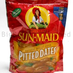 SUN MAID Pitted Dates Deglet Noor snack 8 oz bag dried 100% fruit No Sugar Added #SunMaid #BigBoyTumbleweed