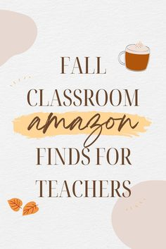 Check out these fun Amazon finds to get your classroom ready for the Fall season! Do not miss out on some great ideas for your bulletin board, classroom walls and doors, and so many more ideas to transform your classroom space!