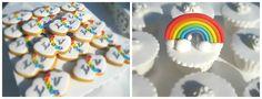 Rainbow Candy Bar  Rainbow Cupcakes and cookies