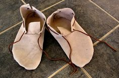 DIY How To Make Moccasins - step-by-step instructions for making your own custom pair of moccasins in any size. You can also line them for winter. Use mink oil to waterproof them.