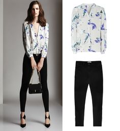 Our new season Delores Pansey Print Silk Blouse will add something special to your skinny jeans and heels combination.
