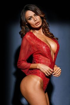 sultry sheer teddy 'Layla' in seductive lace is sure to captivate your partner. Plunging neckline open hip sleeve & hugs your curves for full coverage Plus Size Sleepwear, Sheer Lace Dress, Teddy Lingerie, Lingerie Set, Satin Pyjama Set, Plus Size Bra, Red Lace, Fishnet, Corsets