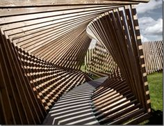 EKKO Permanent Installation with 200 wooden frames In Denmark By Thilo Frank