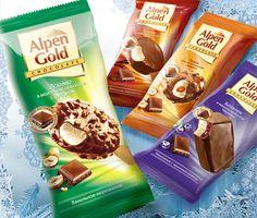 Мороженое Alpen Gold в дизайне от Soldis