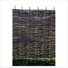 Woven willow fence available from AmberleyProducts.co.uk