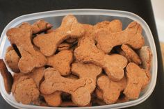 Peanut butter dog treats. All natural and made with only the best stuff.