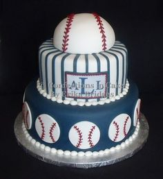 Easy Baseball Cake Tutorial Follow this tutorial to create the