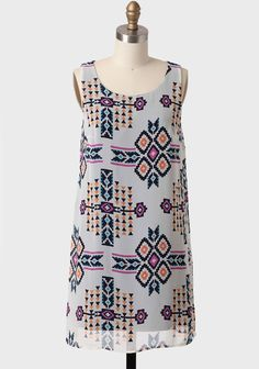 Nevada Roads Printed Shift Dress from Ruche. #colourfulbridesmaid #weddingstyle