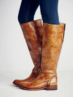 Bed Stu Free People Abbey Tess Windsor Tan Leather Knee High Tall Boots - BeltsBootsBling.com