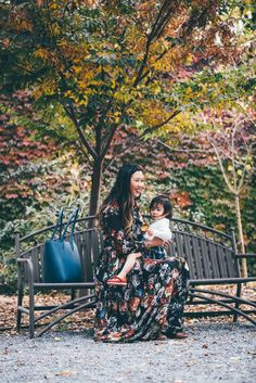 Mommy and Me Fall Style: Florals and Plaid
