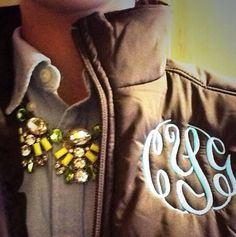 Marley Lilly Monogrammed Puffy Vests
