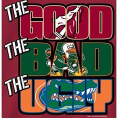 Florida State Seminoles FSU Football T-Shirts - The Good The Bad The Ugly