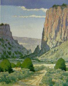 artist Leon Loughridge's woodblock print, Diablo Canyon Storm