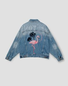 PRINTED DENIM JACKET - NEW PRODUCTS - WOMAN - PULL&BEAR Ukraine