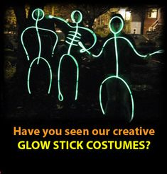 cannot wait to do this for halloween with the fam - Glow Sticks For Halloween