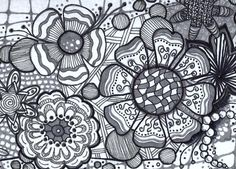 Flower Zentangle Tile by Katie Butler, CZT