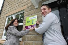 Mark Boucher and Jenny Wilson moving into their new Keepmoat home in Shipley