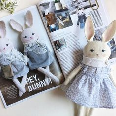Thanks so much for the feature @burdastylegermany in the new April issue! A small limited edition of these lady rabbits designed exclusively for  @burda_style @burdastylegermany will be available on their website soon!   I will let you know when they are up!  Fun little fact.. I studied German from kindergarten to 6th grade and.... I can only read a few words  Where are my Deutsch Lautsprecherut (is that right?) out there?