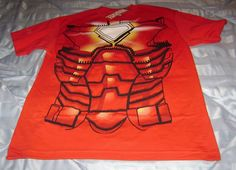 MARVEL COMICS IRON MAN SUIT COSTUME M MEDIUM T-SHIRT NEW TONY STARK COSPLAY