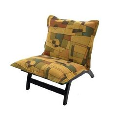 Find relaxation in any room with this inviting transitional lounger chair. Its upholstery contrasts well with the espresso hardwood frame.The chair s signature characteristic its extra padding lets you lean back and relax in casual comfort.