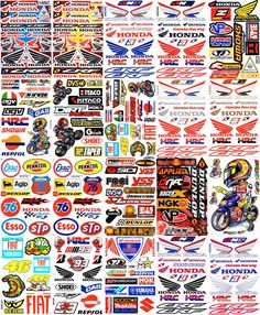 20 SHEETS NEW HONDA MULTI LOGO CAR MOTOCROSS ATV ENDURO BIKE RACE STICKER RACING DECAL GRAPHIC SM63 -- Awesome products selected by Anna Churchill