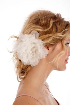 Need a hair flower for after I take my veil off at the reception.  I'm thinking bright pink would be fun though?