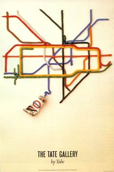 paper connection art | In 1986 David Booth created this poster for The Tate Gallery depicting ...