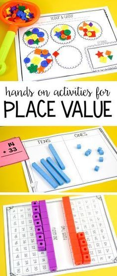 Place Value Activities for First Grade! Tons of hands on place value activities, games and printables for first grade! Place Value Activities, Math Place Value, Math Activities, Teaching Place Values, Teaching Math, Kindergarten Math, Preschool, Math For Kids, Fun Math