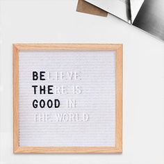 "AmazonSmile: Proper 10"" x10"" Felt Letter Board with Oak Frame 