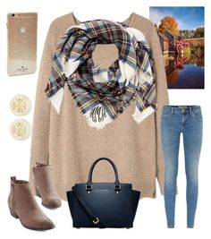 """""""Vermont in Fall Contest"""" by ctrygrl1999 ❤ liked on Polyvore featuring Violeta by Mango, Burberry, Kate Spade, Tory Burch and Michael Kors"""