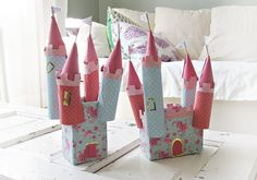 Castles - too sweet!!! Would be a fun craftivity for a princess or Rapunzel party!