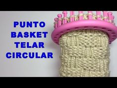 Loom Knitting Stitches, Cross Stitch Flowers, Loom Weaving, Knit Crochet, Basket, Youtube, Crafts, Round Loom, Home