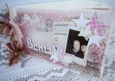Stempelgalsverden Minialbum med Art Journal papirer fra Poppydesign