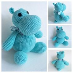Fat Little Hippo - Crochet creation by TheMerinoMermaid