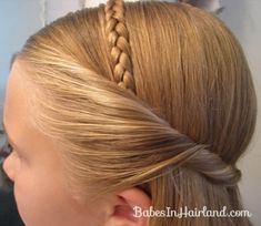 Braided Headband for Any Age - Babes In Hairland Flower Girl Hairstyles, Little Girl Hairstyles, Headband Hairstyles, Straight Hairstyles, Braided Hairstyles, Teenage Hairstyles, Men's Hairstyle, Formal Hairstyles, Hairdos