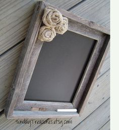 Old Barnwood barn wood CHALKBOARD Burlap Flowers Wedding / Menu / Nursery…