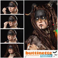 eyebrows tutorial Make-Up Tutorial fr einen Schamanenlook im Tribal Style Horns Costume, Demon Costume, Costume Makeup, Tribal Style, Tribal Mode, Can Makeup, Pretty Makeup, Makeup Looks, Cosplay Make-up