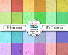 RECYCLED PAPER  Digital paper pack  Instant download by DigitalBay