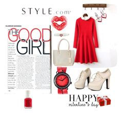 """""""Untitled #461"""" by agnesmakoni ❤ liked on Polyvore featuring Sidewalk, t. watch, Sweet & Co., Chicsense, Moschino, women's clothing, women, female, woman and misses"""