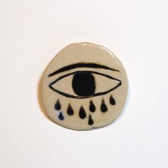 EyeCloud Ceramic brooch by KinskaShop