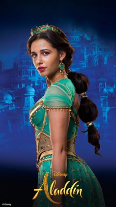 Princess Jasmine - Naomi Scott in Aladdin Disney Cinema, Disney Films, Disney And Dreamworks, Disney Pixar, Punk Disney, Disney Characters, Jasmine E Aladdin, Princesa Disney Jasmine, Princess Jasmine Makeup